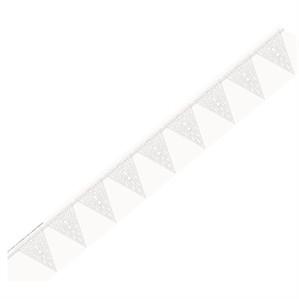Vintage White Wedding Flag Banner