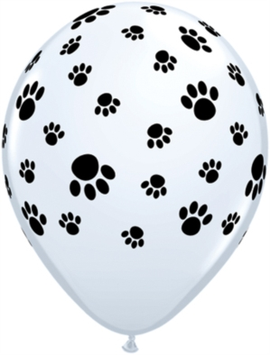 "Paw Print 11"" Latex Balloons 25pk"