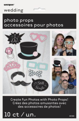 Wedding Photo Booth Props 10pk