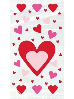 Valentine's Hearts Cello Bags 20pk
