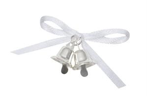 Silver Wedding Bell Favours 12pk