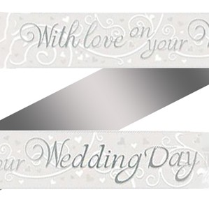 With Love on Your Wedding Day Foil Banner