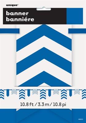 Blue Dots & Stripes Flag Banner