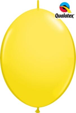 "12"" Yellow Quick Link Latex Balloons - 50pk"