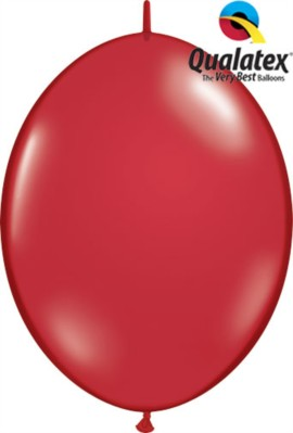 "12"" Ruby Red Quick Link Latex Balloons - 50pk"