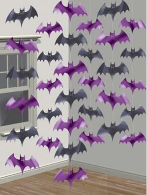 Halloween Bat Hanging String Decorations 6pk