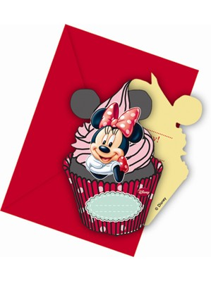Minnie Cafe Invitations and Envelopes 6pk