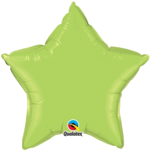 "Lime Green 20"" Star Foil Balloon"