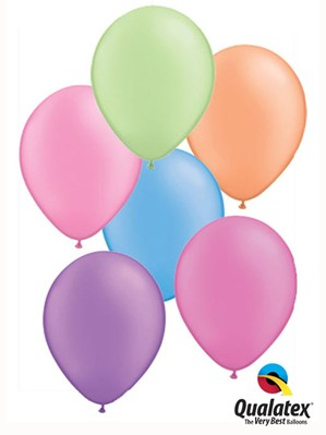 "11"" Neon Assortment Latex Balloons - 25pk"