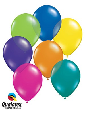"11"" Fantasy Asst'd Colour Latex Balloons 100pk"