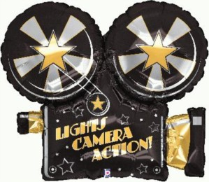 "Lights Camera Action 32"" Foil Balloon"