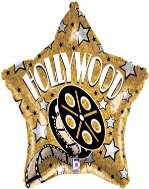 "Hollywood Star Shaped 18"" Foil Balloon"