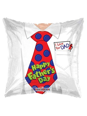 "Happy Father's Day Tie 18"" Square Foil Balloon"