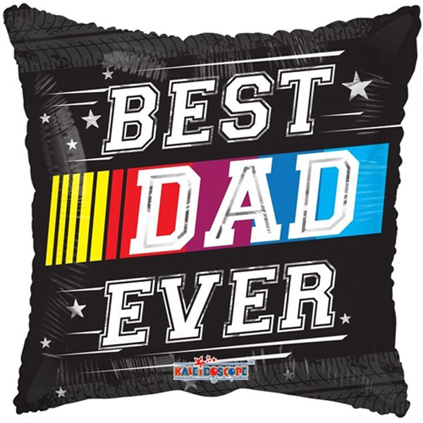 "NEW Best Dad Ever 18"" Square Foil Balloon"
