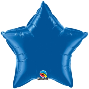 "Dark Blue 20"" Star Foil Balloon"