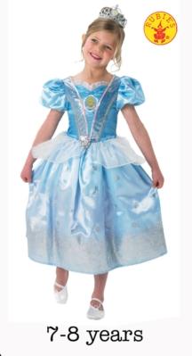 Deluxe Cinderella Fancy Dress Costume - Large