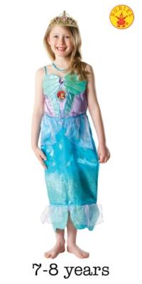Glitter Disney Ariel Costume and Tiara - Large