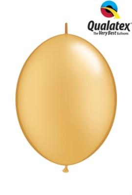 "6"" Gold Quick Link Latex Balloons - 50pk"