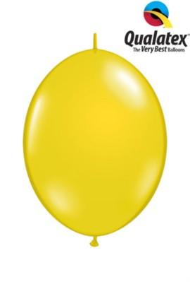 "6"" Citrine Yellow Quick Link Latex Balloons - 50pk"