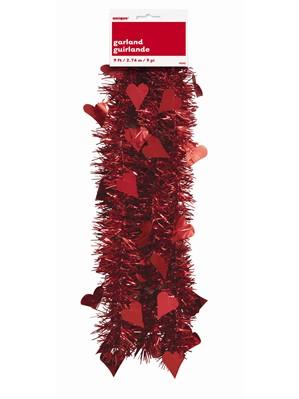 Valentine's Day Red Tinsel Garland