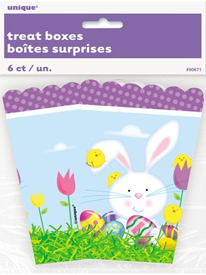 Easter Bunny Treat Boxes 6pk