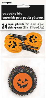 Halloween Pumpkin Cupcake Kit
