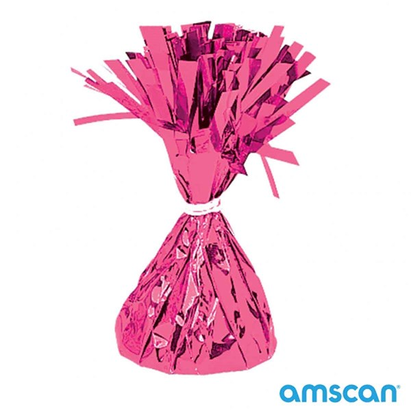 Magenta 6oz Foil Tassel Balloon Weight