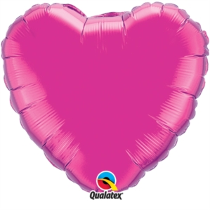 "Magenta 36"" Heart Foil Balloon"