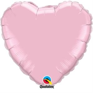 "Pearl Pink 18"" Heart Foil Balloon"