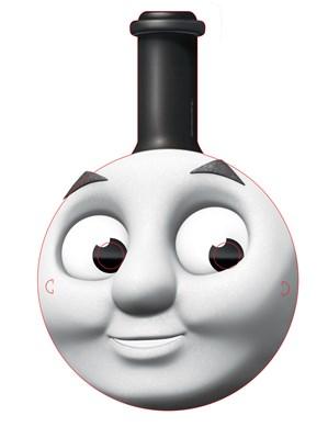 4 Thomas & Friends Card Face Masks