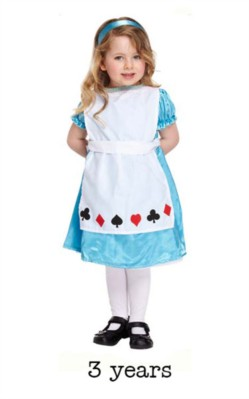 Child Alice Book Day Fancy Dress Costume - Toddler