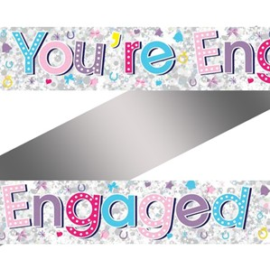 You're Engaged Foil Banner