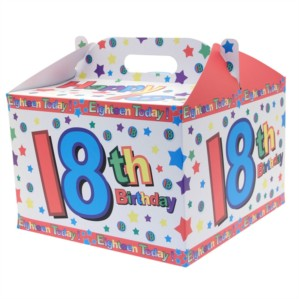18th Birthday Carry Handle Balloon Box
