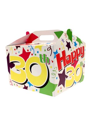 30th Birthday Carry Handle Balloon Box