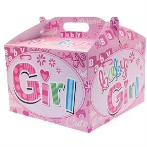 Baby Girl Carry Handle Balloon Box