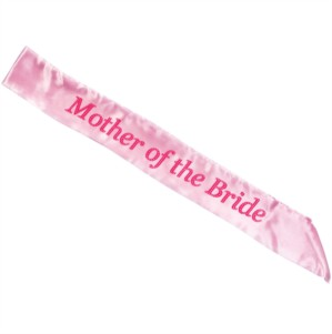 Light Pink Hen Party Mother of the Bride Sash