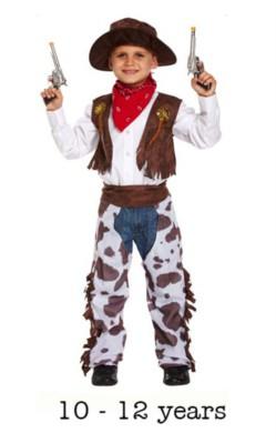 Child Wild West Cowboy Fancy Dress Costume 10 - 12 yrs