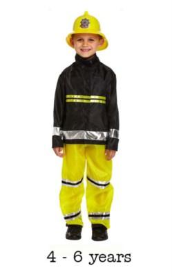 Child Fireman Fancy Dress Costume 4 - 6 yrs