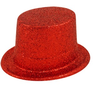 Red Glitter Top Hat