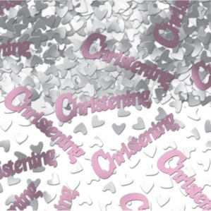 Pink Metallic Christening Confetti