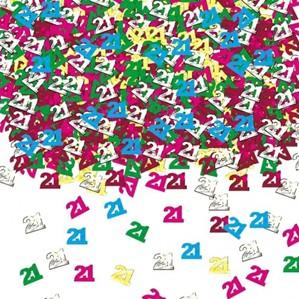 Age 21 Multi Coloured Birthday Confetti