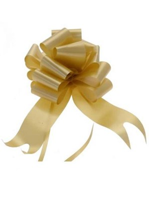 50mm Gold Pull Bows 20pk