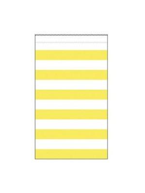 Medium Yellow Striped Paper Treat Bags 15pk
