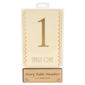 Gold & Ivory Table Numbers 1 - 12