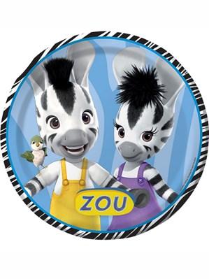 Zou Zebra Paper Party Plates 8pk