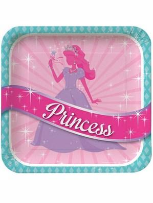 Princess Party Paper Plates 8pk