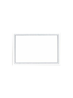 White & Silver Place Cards 10pk