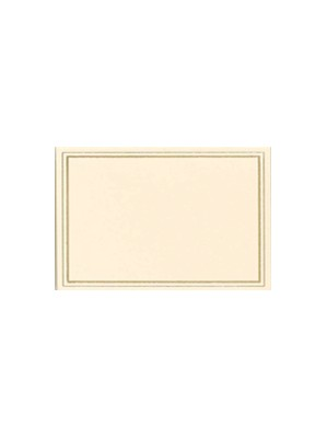 Ivory & Gold Place Cards 10pk