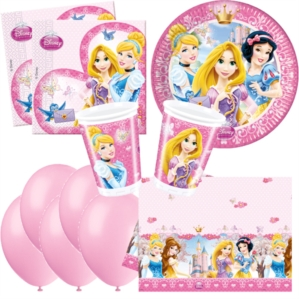 Princess Glamour Bonus Party Pack for 8 people - 10 FREE BALLOONS