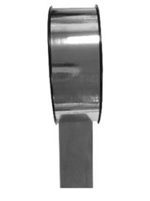 """2"""" Silver Metallic Florist Ribbon 91m"""